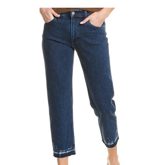 NWT Lucky Brand Dark wash cropped boyfriend jeans